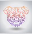 hipster polygonal animal pug-dog triangle animal vector image