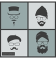 icons hairstyles beard and mustache vector image