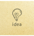 Lightbulb paper Creative idea symbol concept EPS vector image