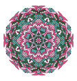 mandala oriental ornament relaxing doodle drawing vector image vector image