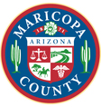 Maricopa county seal vector image