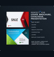 material design of brochure set abstract annual vector image vector image