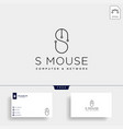 mouse typelogo text logo template icon element vector image vector image