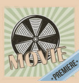 movie premiere reel film and stripes background vector image vector image