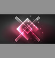neon shiny color squares on black modern template vector image vector image