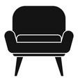 nursing armchair icon simple style vector image vector image