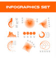 orange infographic elements collection - business vector image vector image