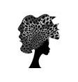 portrait african woman in traditional turban vector image vector image