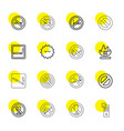prohibition icons vector image vector image