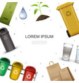 realistic ecology and environment template vector image vector image