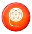 Reel with film icon flat style vector image vector image