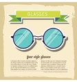 retro glasses background concept vector image vector image
