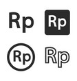 rupiah currency symbol set vector image vector image