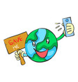 save earth from environment doodle vector image vector image