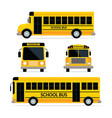 school bus front and side view vector image