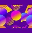 seamless pattern with geometric objects in the vector image vector image