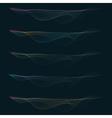 set of colorful smoke waves vector image