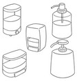 set of shampoo and liquid soap bottle vector image vector image