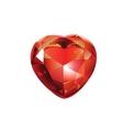 Shiny Valentines Diamond Hearts vector image vector image