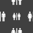 silhouette of a man and a woman icon sign Seamless vector image vector image