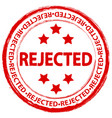 stamp rejected 3 vector image
