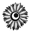 summer sunflower icon simple style vector image