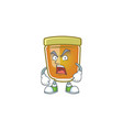 sweet honey in character mascot angry