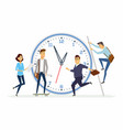 time management in a company - modern cartoon vector image vector image