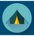 Tourist tent Single icon vector image vector image