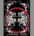 two bulldog hand draw vector image vector image