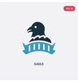 two color eagle icon from united states concept vector image vector image