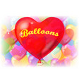 valentine background with balloons vector image vector image