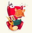 valentine fox vector image vector image
