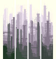 vertical banner industrial part of city vector image vector image