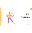 virtual reality recreation battle game website vector image