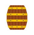 wood barrel icon flat style vector image