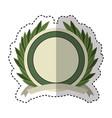 wreath leafs crown emblem vector image vector image