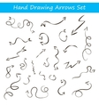 with hand draw arrows set vector image