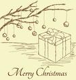 gift box vintage vector image