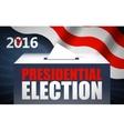 USA presidential election day concept vector image