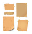 collection of various crumpled papers vector image