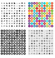 100 mens team icons set variant vector image vector image