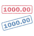 100000 textile stamps vector image vector image