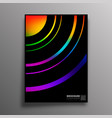 abstract design poster with colorful gradient vector image vector image