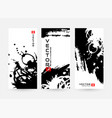 abstract vertical banners with black and white vector image vector image
