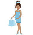 African American Pregnant Woman vector image vector image