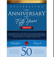 anniversary background 50 years vector image vector image