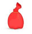 bag santa claus of christmas red bag vector image