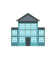 Bank building icon flat style vector image vector image