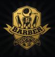 barber shop hair salon hair stylist vintage logo vector image